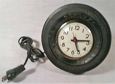 Vintage General Tire Advertising Electric Desk Clock Gilbert Movement