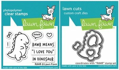 Lawn Fawn Photopolymer Clear Stamps-6ct Dies ~ WHALE YOU BE MINE ~LF791 LF792