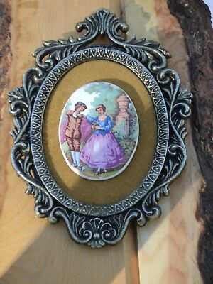 Vintage E.A. RIBA Wall Decor Cameo on a Felt Backing in a Victorian style frame.
