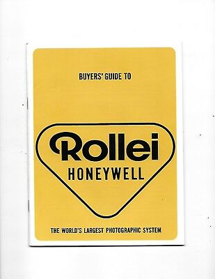 1968 Honeywell Rollei Camera Catalog Lenses Accessories Photography