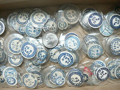 LOT OF 100 ANTIQUE GLASS ROUND WRISTWATCH CRYSTALS For PARTS, LOTS OF SIZES