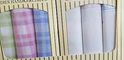 "16 or 8 Ladies 100% COTTON HANDKERCHIEFS HANKIES Quality Gift pack size 9""x9""new"