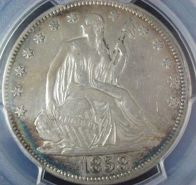 1858 Seated Liberty Silver Half Dollar PCGS VF35 28046551 01132018