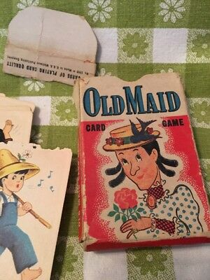 Vintage Old Maid Playing cards Whitman #3009 43 Playing cards Used Condition