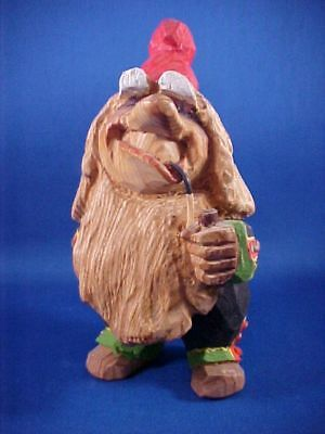 Vintage 1950's Carved Wooden Norwegian Henning Engelsen Troll Smoking Pipe