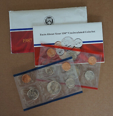 1987 DP U.S. Mint Uncirculated Coin Set united states 12 coins 2 sealed packs