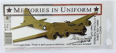 Nip Wwii Army Air Corps B-17 Flying Fortress Laser Diecut By Memories In Uniform
