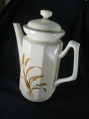 "Vtg Gailstyn-Sutton 5-Cup 7-7/8"" Tall Coffee/Tea Pot Teapot Wheat Design Taiwan"