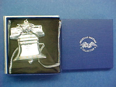 Gorham Sterling Silver American Heritage Christmas Ornament 1988 Liberty Bell
