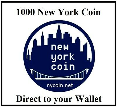1000 NEW YORK COIN NYC NEWYORKCOIN Cryptocurrency Mining Contract TO YOUR WALLET