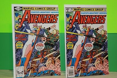 The Avengers #195 1st TASKMASTER app. One Newstand and Reg Unread VF- BX2