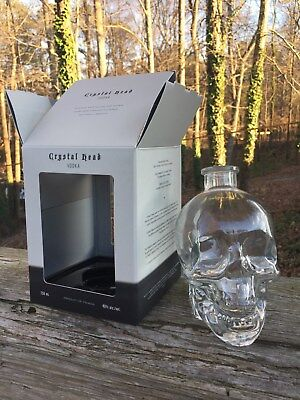 CRYSTAL HEAD VODKA 750ml EMPTY BOTTLE Dan Aykroyd CLEAR SKULL with Box