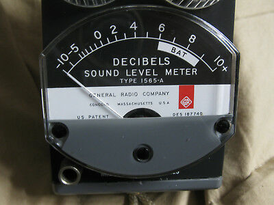 General Radio GenRad 1565-A Sound Level Meter with Leather Case