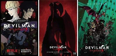 "Devilman Crybaby Poster Netflix Japanese Anime TV Show Print 13x20 24x36"" 32x48"""