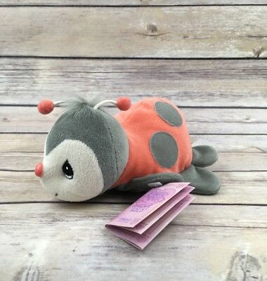 Vintage Precious Moments Tender Tales LADY BUG Plush with Adoption Tag Bean Bag