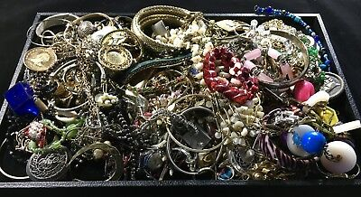 Vintage Lot of Mixed Costume Jewelry, Seven Pounds Unsearched