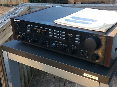 Sony Preamplifier, Model TA-E77ESD with original manual, for parts or repair