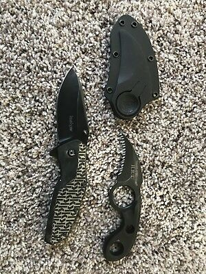 Kershaw Folding Knife and Smith and Wesson fixed serrated blade knife.