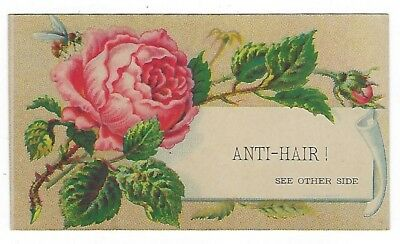 Anti-Hair late 1800's medicine trade card