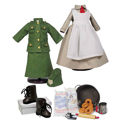 """18pc Salvation Army Complete Doughnut Girl Set 18"""" American Girl Clothes & Shoes"""