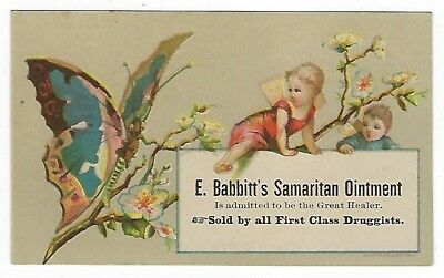 Babbitt's Samaritan Ointment late 1800's medicine trade card #C - Westport, MA