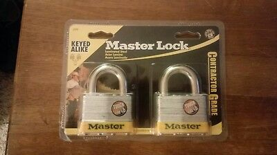 Master Lock 2-Pack Contractor Grade Hardened Steel Shackle Keyed Padlocks