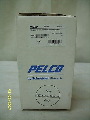 Pelco SWM-GY Gray Wall Mount for Spectra or DF5 Series Pendant Domes *NOS*