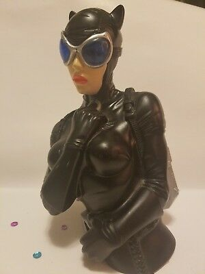 Dc comica batman Cat Woman Bust Piggy Bank coin bank monogram collector