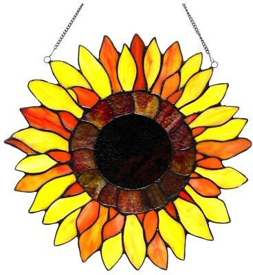 Stained Glass Panel for Window Tiffany Style Suncatchers Sunflower Victorian