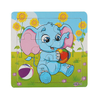 Wooden Elephant Jigsaw Toys For Kids Education And Learning Puzzles Toys