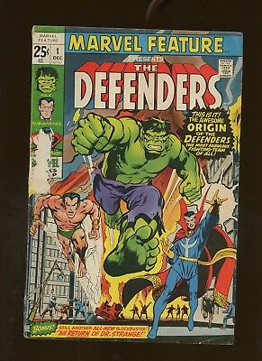 Marvel Feature 1 VG 4.0 * 1 Book * 1st Defenders! Neal Adams Cover! Ross Andru!