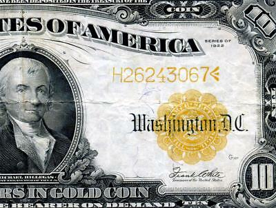 HGR SATURDAY 1922 $10 ((BLAZING Gold Cert)) AWESOME GRADE