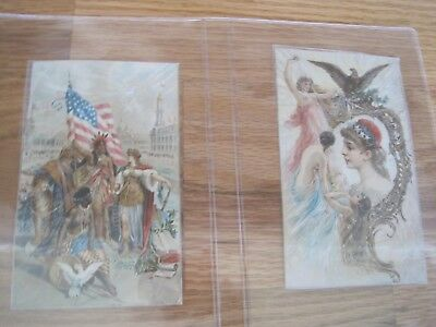 Victorian SEWING TRADE CARDS Davis Sewing Machine Lot 2