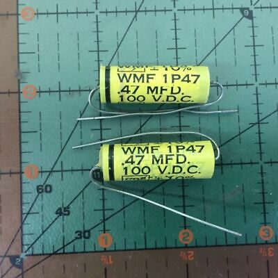Cornell Dubilier Axial Film Capacitor .47uF 600v WMF6P47 10/% Polyester  2pcs
