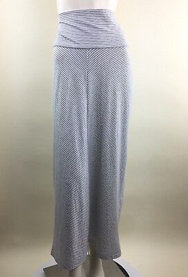 Old Navy Maternity Womens Small Gray & White Stripe Maxi Pencil Skirt Stretch