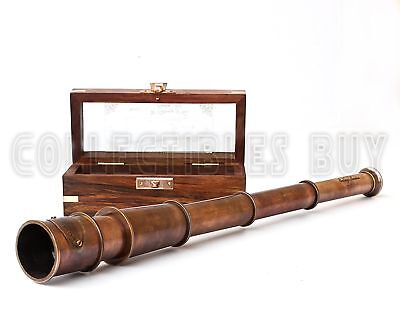 Vintage 1915 Retro Sailor Marine Telescope Copper Antique Royal Navy Gift... New