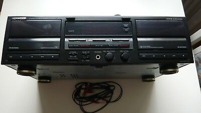 """Kenwood Stereo Double Cassette Deck KX-W 6040 Receiver """"Top-Zustand"""""""