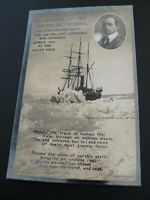 In Memory of the Antarctic Heroes the late Captain Scott RP Postcard South Pole
