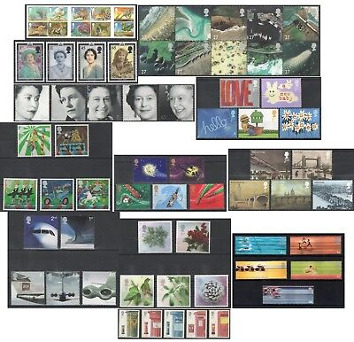 2002 Royal Mail Commemorative Sets MNH. Sold separately & as full year set.
