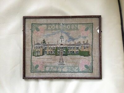 Antique Sampler Polesden Lacey, Surrey Sampler 1824