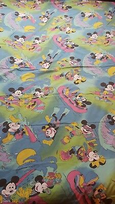 Disney Mickey Maus Minnie Maus Hawai  Bettwäsche bedding stoff fabric vintage