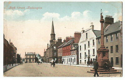 Scotland Haddington High Street 1907 Vintage Postcard 14.1
