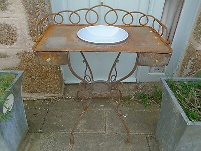 Nineteenth Century French wrought metal wash stand