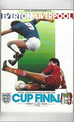 Everton v Liverpool FA Cup Final 1986 Football Programme