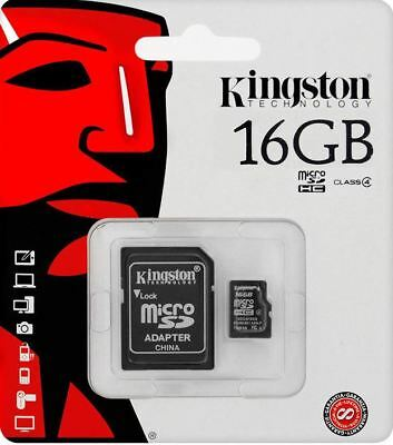 Kingston 16GB Micro SD SDHC Memory  with Adapter