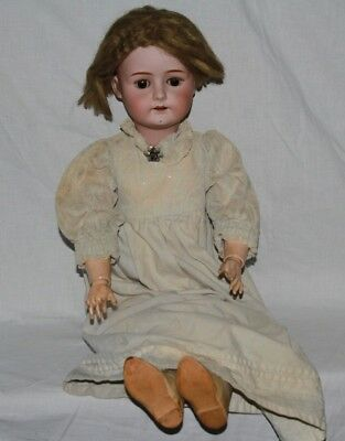Porzellankopfpuppe um 1900 Germany 6 1/2 defekt