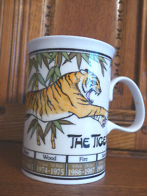 Dunoon Fine Bone China Mug Ming Shu The Tiger Art Of Chinese Astrology Ex Cond