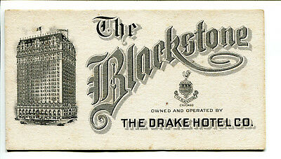 The Blackstone, Chicago Hotel Ink Blotter