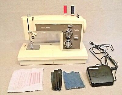Vintage Kenmore 158 19400 zig zag convertible 1 amp heavy duty sewing machine