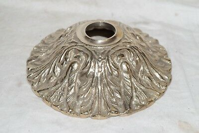 Vintage Very Heavy Brass Ornate Canopy Ceiling Plate Light Fixture Chandelier